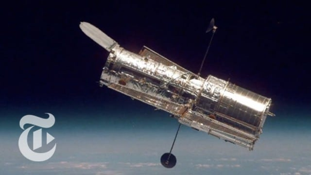 The Hubble Space Telescope Reflects the Cosmos