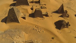 Flying a drone over Sudan's 3,000 year old Nubian Pyramids