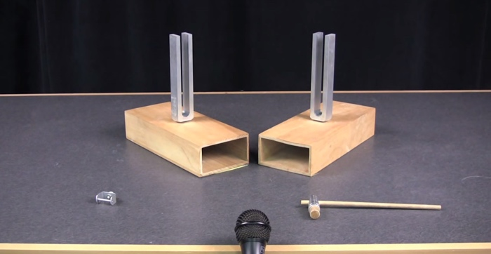 sympathetic tuning forks