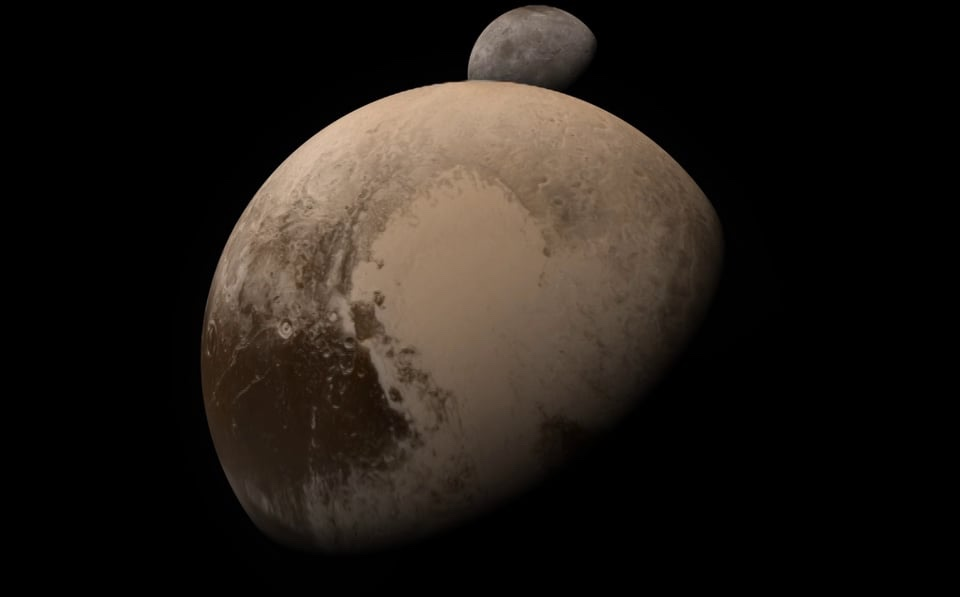 Kerberos Moon Of Plluto: A New Horizons Pluto-Charon Flyby Simulation