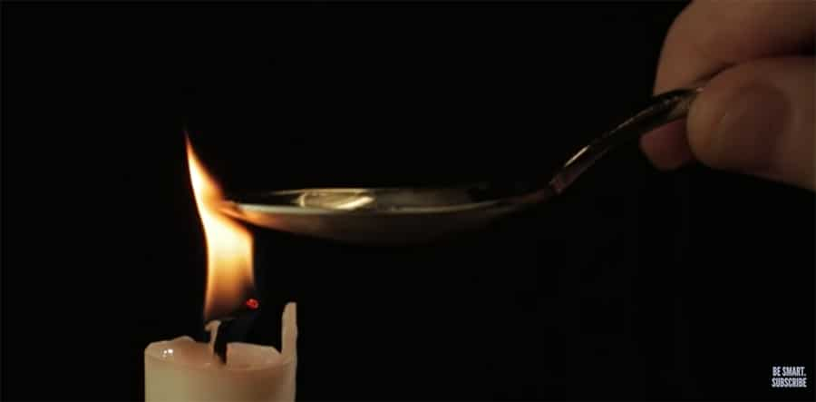 observation of a flame
