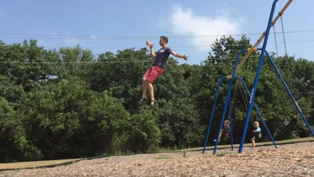 Rock Swing Cup & more DIY playground physics