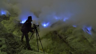 Kawah Ijen volcano & The Mystery of the Blue Flames