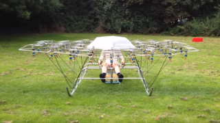 "Flying The Swarm – An aerial multirotor ""super drone"" vehicle"