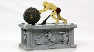 A Sisyphus kinetic sculpture made with LEGO