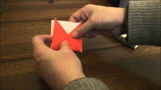 How to make a simple origami triangle bookmark