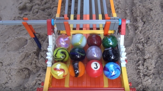 Which marble will win the Longest Sand Marble Run Ever?