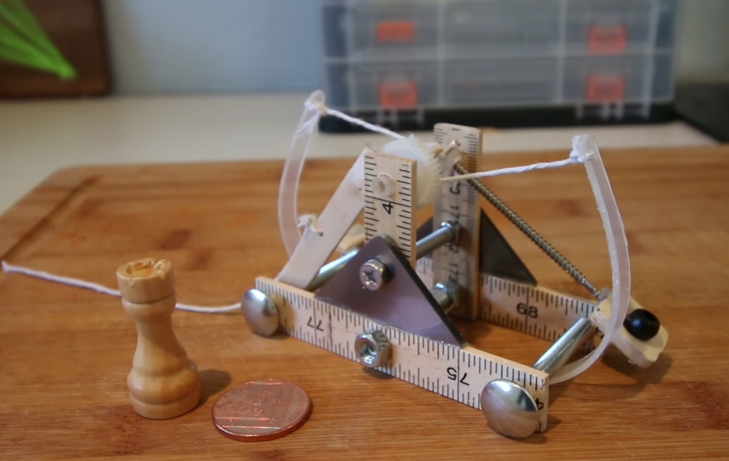 How To Make A Mini Da Vinci Catapult The Kid Should See This