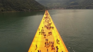 The Floating Piers by Christo & Jeanne-Claude
