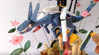 Hand-cranked kangaroo automaton (and friends)
