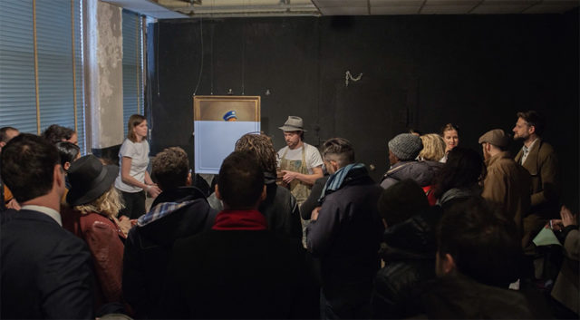 Oliver Jeffers with an audience