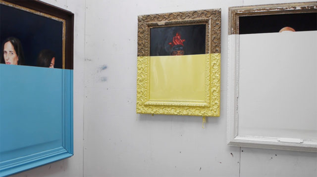 Oliver Jeffers' dipped paintings