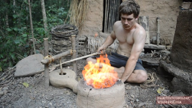 Making a Forge Blower –Primitive Technology
