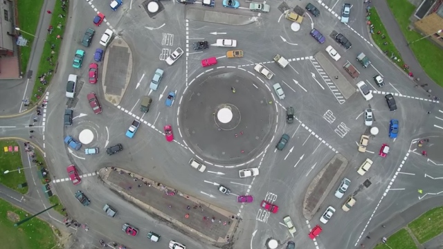 The Magic Roundabout in Swindon, England