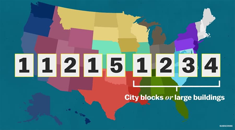 zip codes - 9 numbers