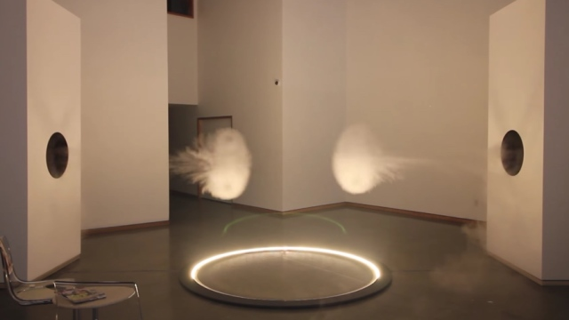 Cannon cloud collisions for Art & Inactivism