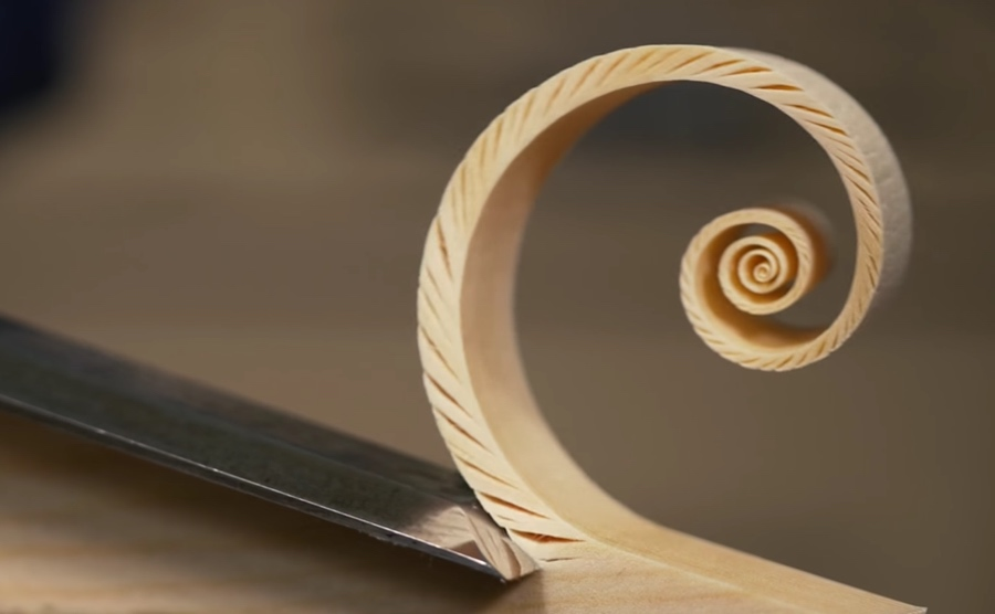 fibonacci spiral in wood