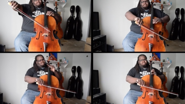 That Cello Guy: The multi-screen performances of Cremaine Booker