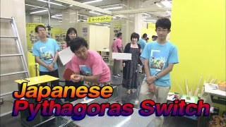 A Japanese 'Pythagoras Switch' Rube Goldberg Machine for charity