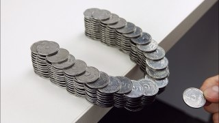 How to build a balancing bridge out of coins without glue
