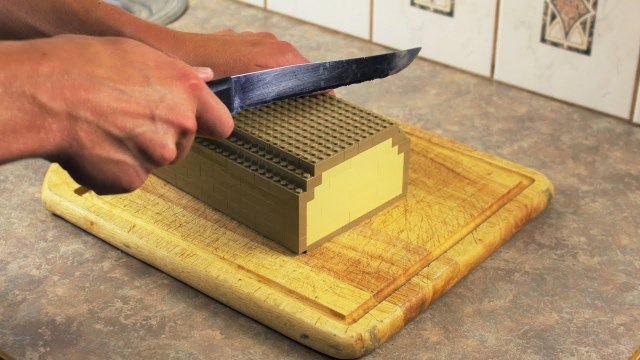 LEGO In Real Life: Making toast and eggs in stop motion