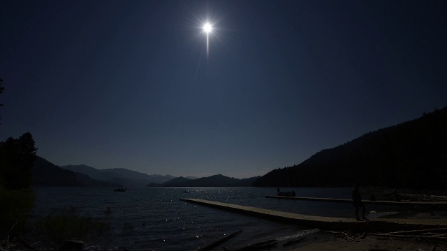 The 2017 Solar Eclipse from the shores of Palisades Reservoir, Idaho
