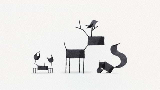 Andrew Fox's Calligraphy Animals Animated