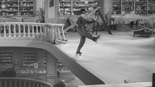 The roller skating scene from Charlie Chaplin's Modern Times