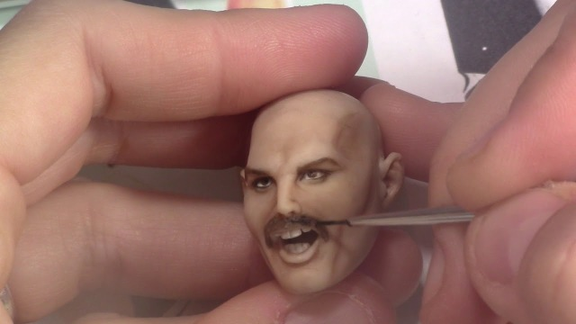 Sculpting Freddie Mercury