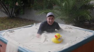 Liquid Sand Hot Tub: Making a giant fluidized bed of sand
