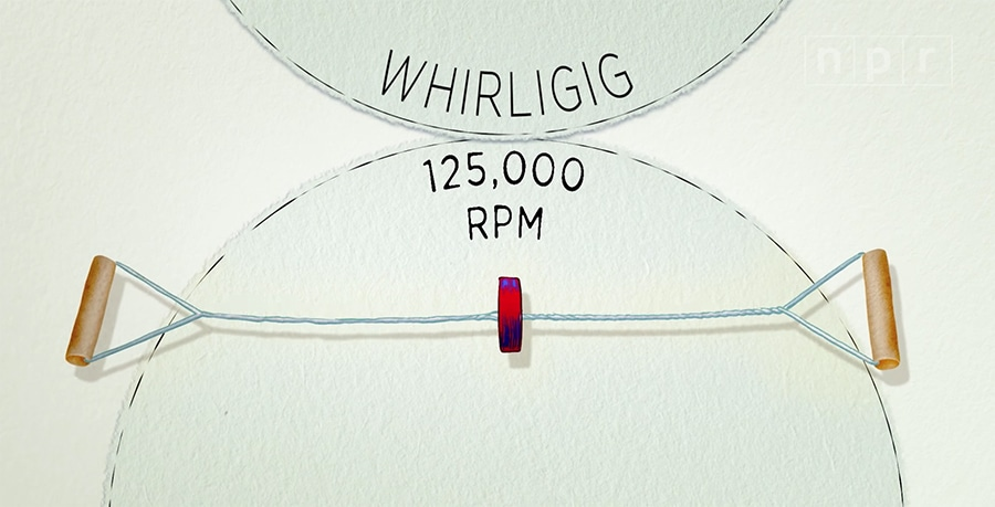 paperfuge / whirligig toy speed
