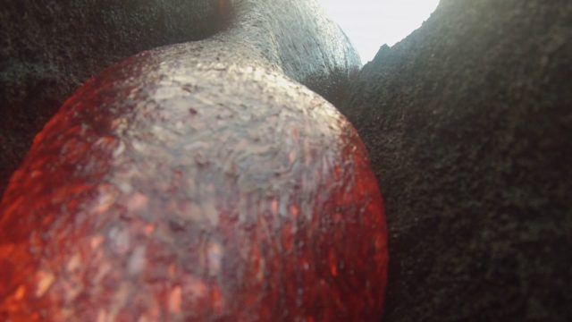 A GoPro survives being engulfed by lava