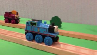 Epic stunts by a toy Thomas the Tank Engine