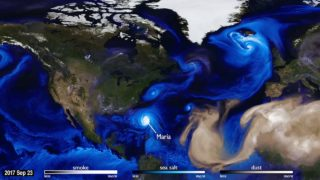 NASA simulates how dust, smoke, and sea salt have traveled the planet