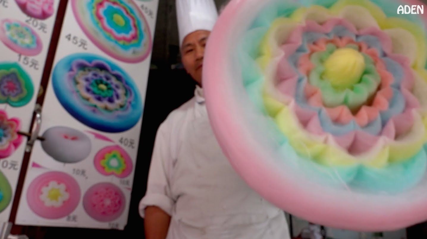 how a gigantic cotton candy flower is made the kid
