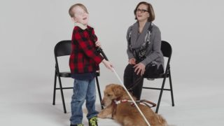 Kids Meet a Guide Dog for the Blind