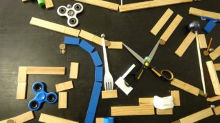 The Blue Marble, an uninterrupted catapult-filled magnet marble run