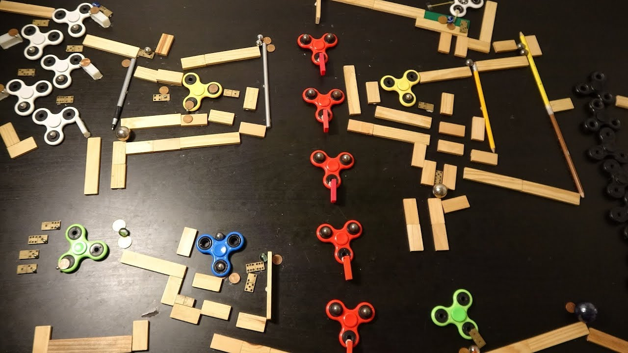 Spinners A Kaplamino Marble Run With 10 Fidget Spinner