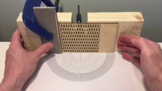 Bend-testing laser-cut plywood hinge patterns
