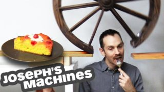 The Cake Server, a delightfully complex food-themed Rube Goldberg Machine