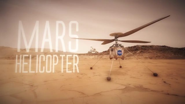 The Mars Helicopter, NASA's small autonomous rotorcraft demonstration