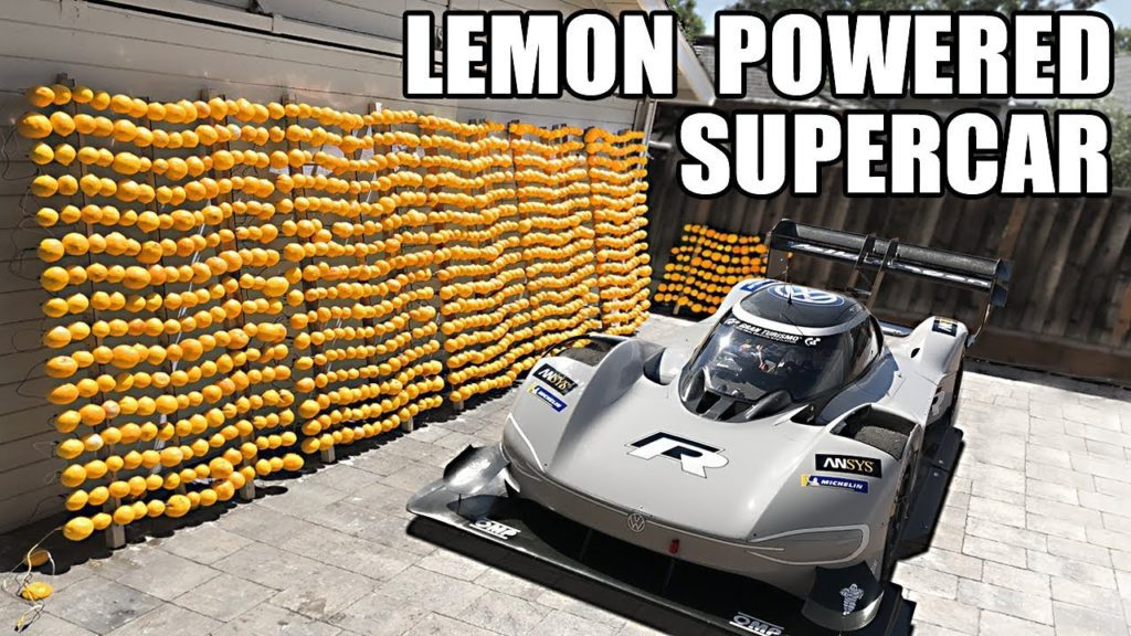 A Lemon Powered Supercar And Making The World S Largest