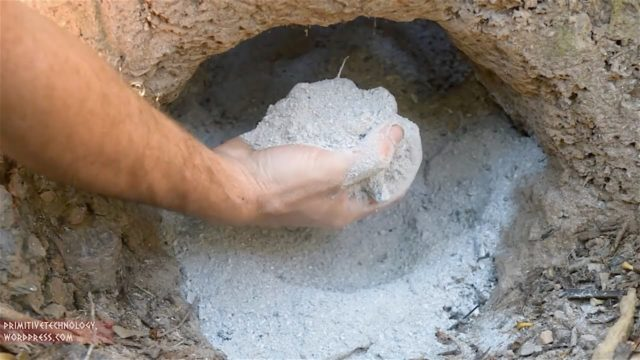 Creating wood ash cement from scratch, an experiment