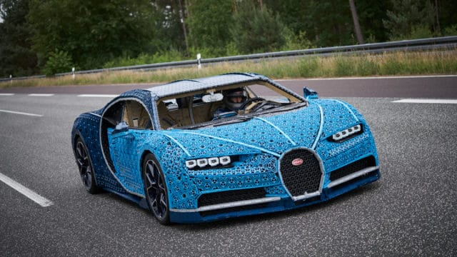 A life-size drivable LEGO Technic Bugatti Chiron with over 1,000,000 pieces