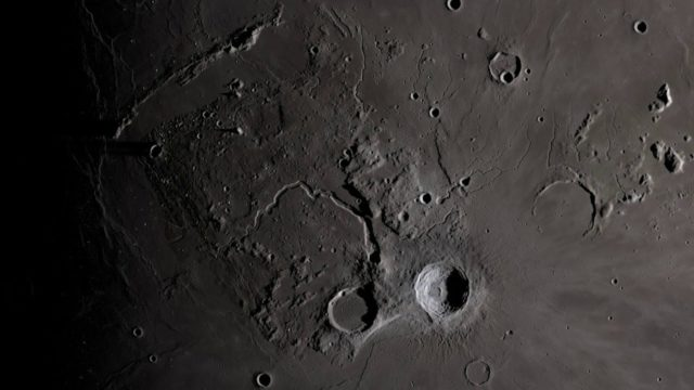 A 4K LRO moon visualization set to Clair de Lune