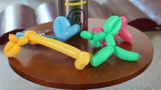 What happens to balloon animals in liquid nitrogen?