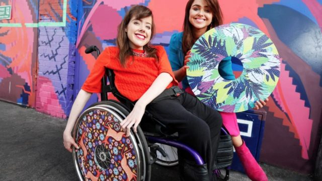 Izzy Wheels: Sisters create an artist-designed wheelchair wheel cover business