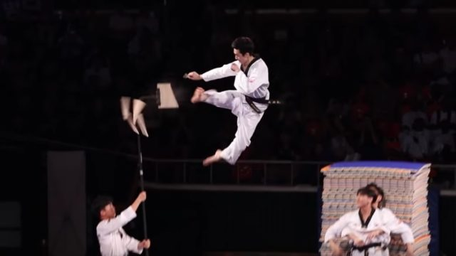 The high-flying, gravity-defying Kukkiwon Taekwondo Demonstration Team