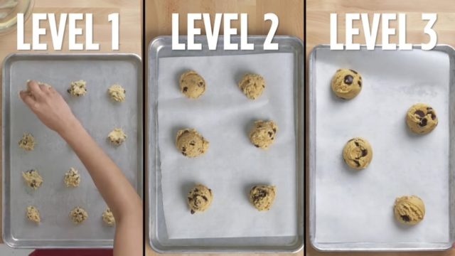 Four levels of chocolate chip cookies: From amateur to food scientist