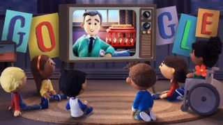 Celebrating Mister Rogers with a musical Google Doodle